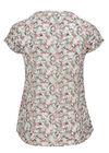 Soepele blouse met bloemenprint, Kaki