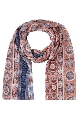 Sjaal met mozaïekprint, Roze