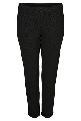Pantalon imprimé de petits pois, Noir