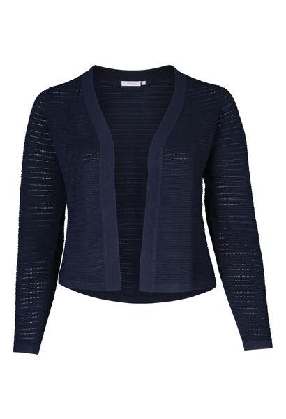 Korte, open cardigan - Marineblauw
