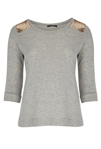Sweater met lovertjes - Gris Chine