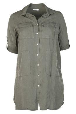 Robe chemise en lyocell, Kaki