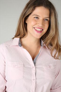 Klassieke blouse met knoopjes, Roze
