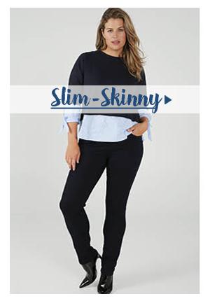 Jeans Skinny-Slim voor grote maten