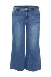 Brede, enkellange jeans