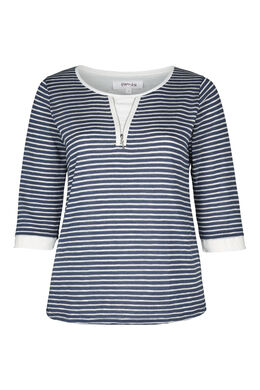 Gebreide trui, Marineblauw