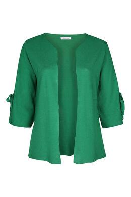 Cardigan met brede mouwen met strikjes, Groen