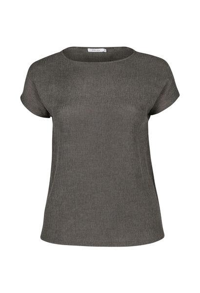 T-shirt in crêpe - Kaki