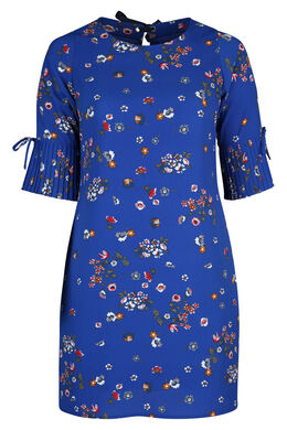 Jurk met bloemenprint, Bic blauw