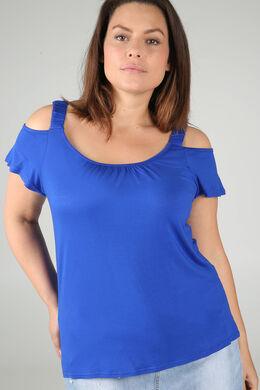 T-shirt met elastische bandjes, Bic blauw