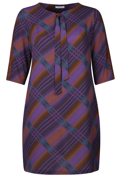 Robe housse imprimé carreaux - Violet