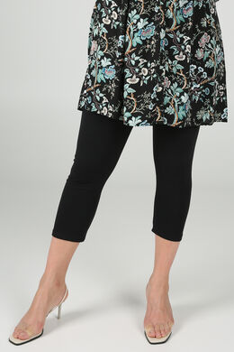 Legging 3/4 en coton bio, Noir