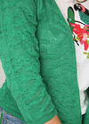 Korte, opengewerkte cardigan, Groen