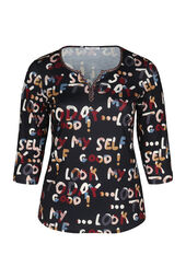 T-shirt in tricot met letters