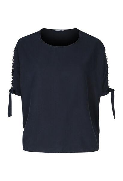 Ruime bloes met vleermuismouwen - Marineblauw