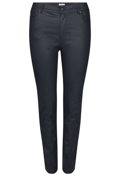 Pantalon enduit coupe slim - Marine