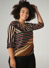 T-shirt in gevlamd tricot 'Opale', Ecru