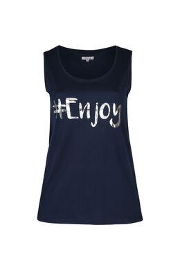 Top '#Enjoy', Marineblauw