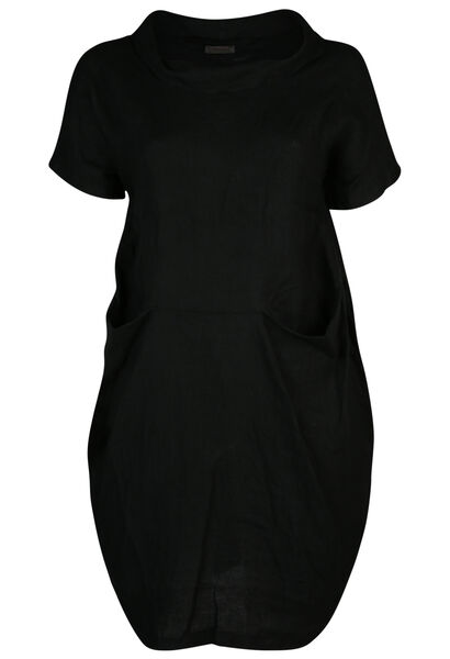 Boljurk in linnen - Zwart