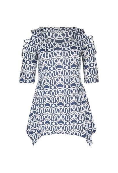T-shirt tunique maille froide - Denim