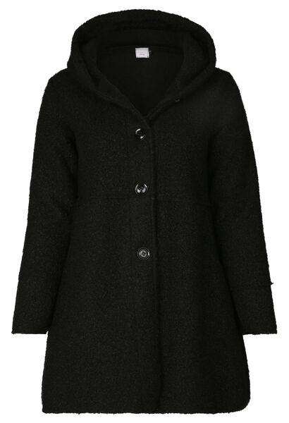 Manteau maille bouclette - Noir