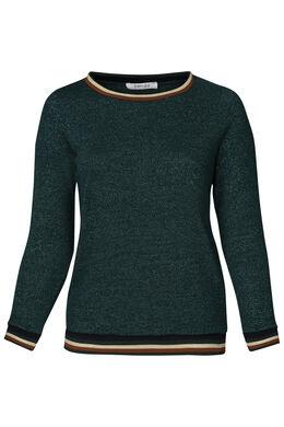 Trui met sportswear-stroken, Emerald groen