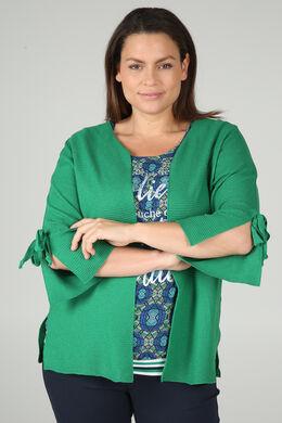 Cardigan manches larges avec noeuds, Vert