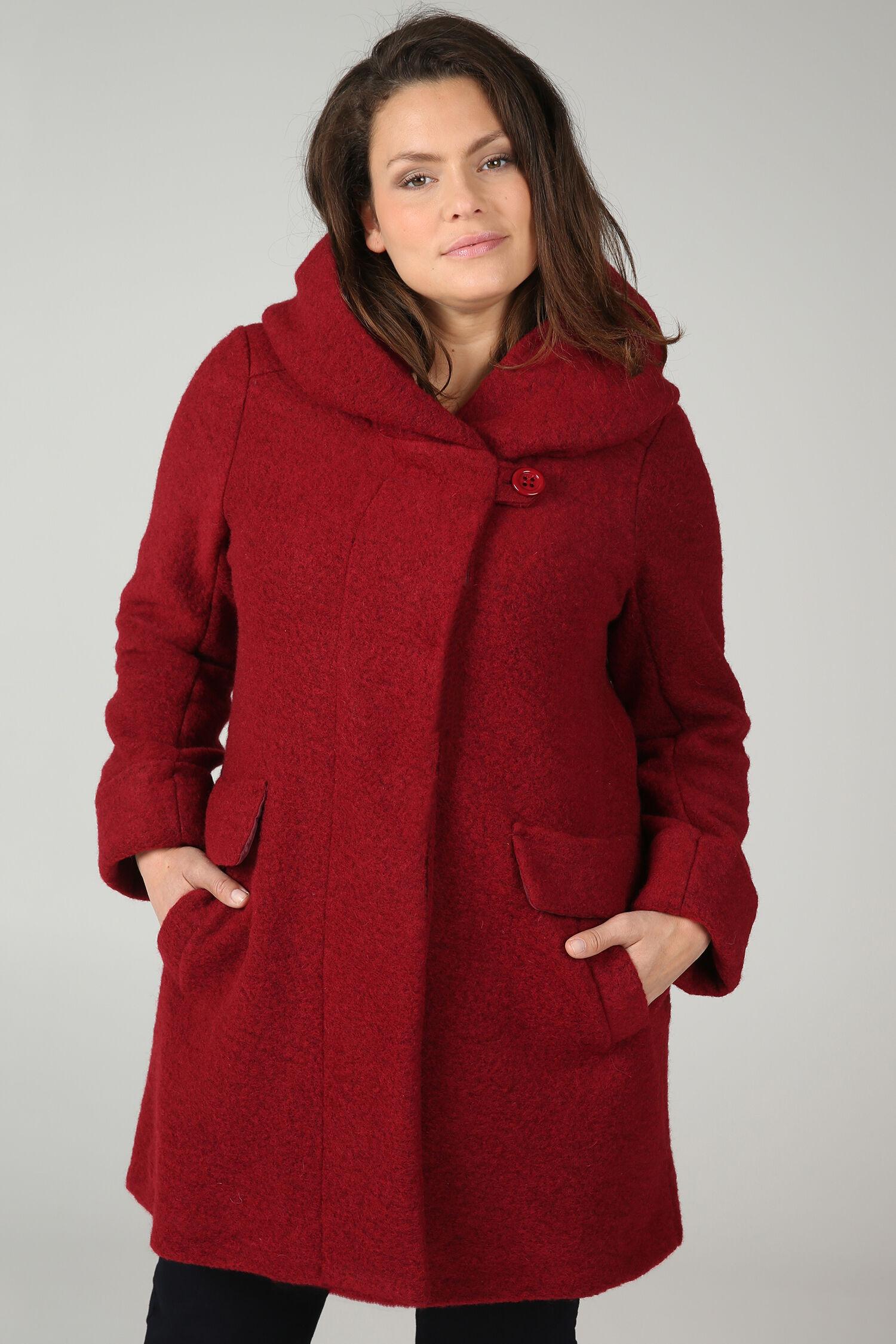 Manteau femme grande taille original noir