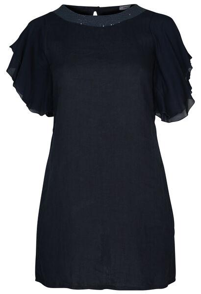 Linnen jurk - Marineblauw