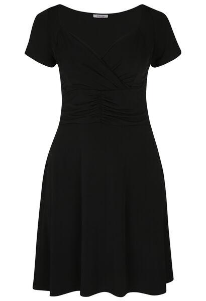 Wikkeljurk in tricot - Zwart