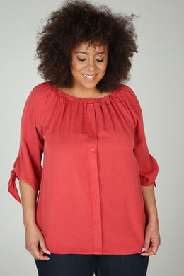 Blouse en lyocel, Orange