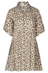 Robe chemise imprimé feuilles