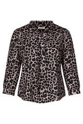 Blouse col lavallière imprimé léopard