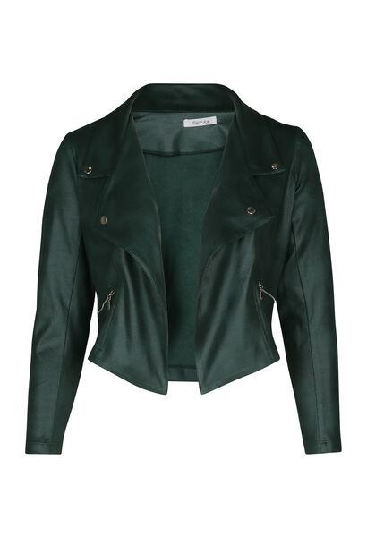 Veste faux cuir - Vert