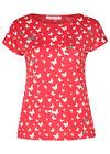 Katoenen T-shirt met vlinderprint, Rood