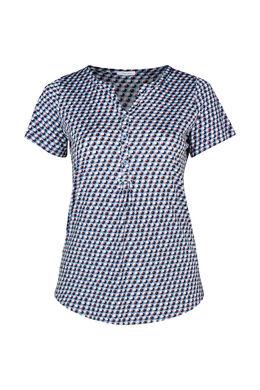 T-shirt in koel tricot, Lichtblauw