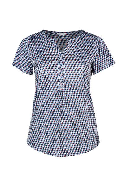 T-shirt in koel tricot - Lichtblauw