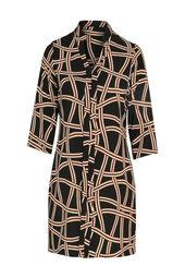 Robe tunique imprimé géométrique