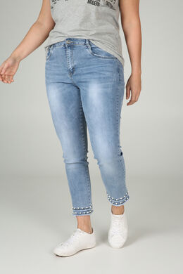 7/8 slim jeans met kralen, Denim