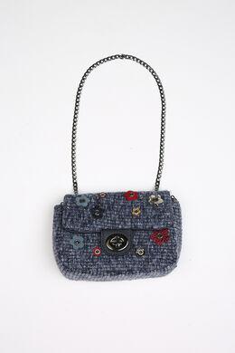 Handtasje in tweed, Indigo