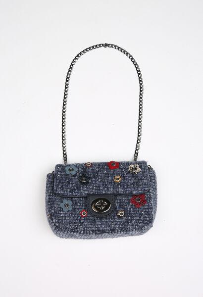 Handtasje in tweed - Indigo