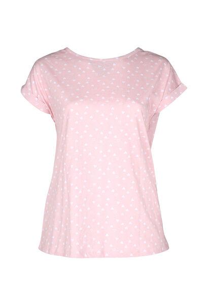 Nachtshirt met hartjes - Roze