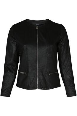 Veste cuir sauvage, Noir