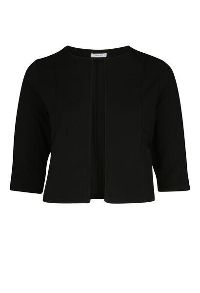 Kort jasje met gelakte zakken - Zwart
