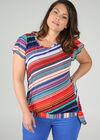 T-shirt met streepjes, Multicolor
