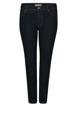 Jeans coupe slim détails sequins, Denim