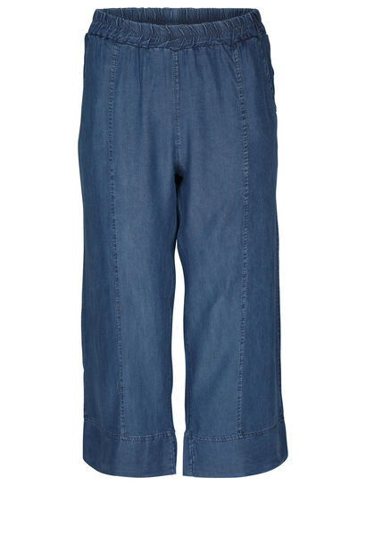 Pantacourt large en lyocel jeans - Denim