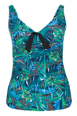 Haut de tankini imprimé jungle, multicolor