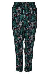 Pantalon en fibranne imprimé feuilles et flamants roses