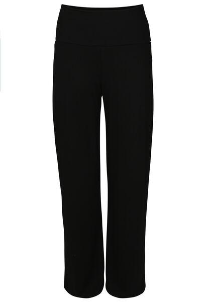 Pyjamabroek met brede pijpen - Zwart